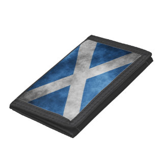 Scotland Grunge- Saint Andrew's Cross Trifold Wallets