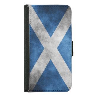 Scotland Grunge- Saint Andrew's Cross Wallet Phone Case For Samsung Galaxy S5