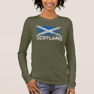 Scotland + Grunge Scottish Flag Long Sleeve T-Shirt
