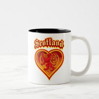 Scotland Heart Two-Tone Coffee Mug