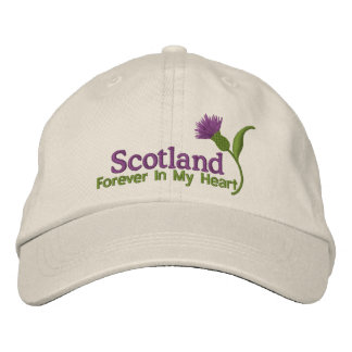 Scotland in my Heart Embroidered Baseball Hat
