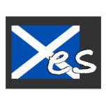 "Scotland Independence: Scottish flag spells ""Yes"", Postcards"