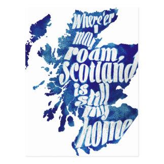 Scotland is my home postcard