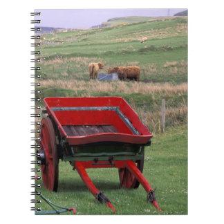 Scotland, Isle of Skye, Kilmuir. Farm animals Notebook
