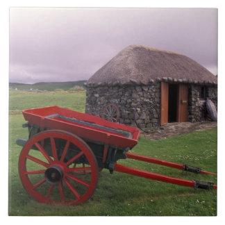 Scotland, Isle of Skye, Kilmuir. Rural landscape Ceramic Tile