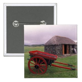 Scotland, Isle of Skye, Kilmuir. Rural landscape Pinback Button