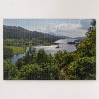 Scotland Jigsaw Puzzle – Landscape Loch Tummel