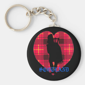 Scotland Key Chain with Piper