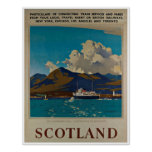 Scotland Kyle of Lochalsh Vintage Travel Poster