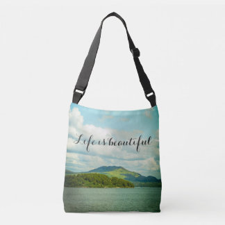 Scotland landscape, tote bag with your own text
