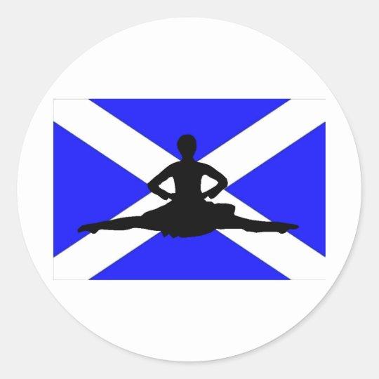 Scotland Leap Classic Round Sticker