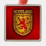 Scotland Lesser Arms Square Metal Christmas Ornament
