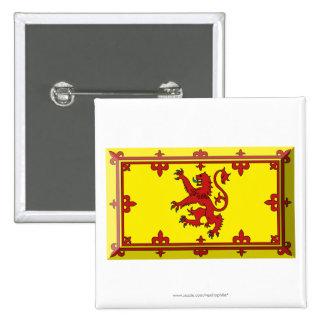 Scotland Lion Flag Jewel 2 Inch Square Button