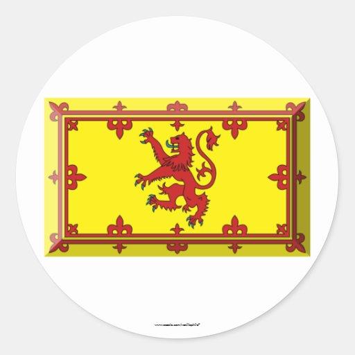 Scotland Lion Flag Jewel Stickers