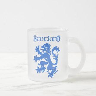 Scotland Lion Rampant Emblem Frosted Glass Coffee Mug