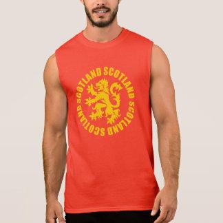 Scotland Lion Rampant Emblem Sleeveless Tee