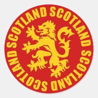 Scotland Lion Rampant Gold & Red Classic Round Sticker