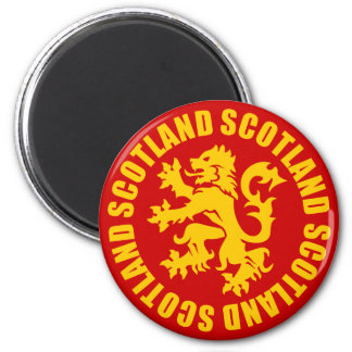 Scotland Lion Rampant Gold & Red Magnet