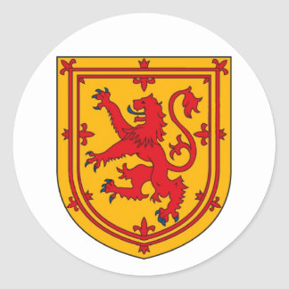 Scotland Lion Rampant Shield Classic Round Sticker