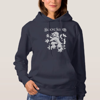 Scotland Lion Rampant Uncial Type Hoodie