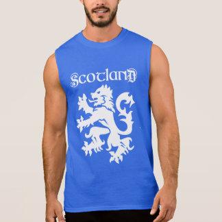 Scotland Lion Rampant Uncial Type Sleeveless Shirt