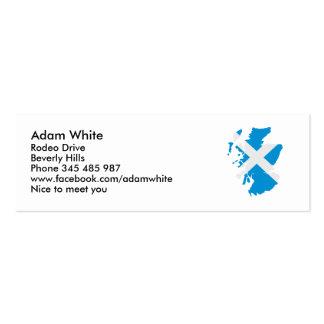 Scotland map flag mini business card