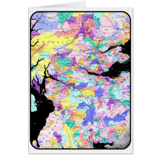 Scotland Map Scottish Clans Photo Card