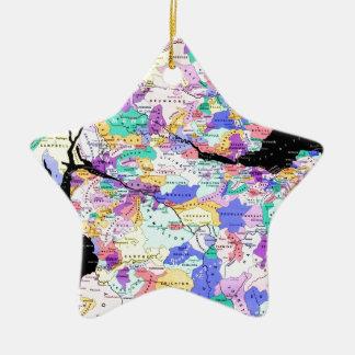 Scotland Map Scottish Clans Photo Ceramic Ornament