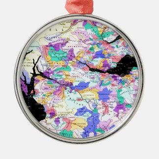 Scotland Map Scottish Clans Photo Metal Ornament