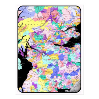 Scotland Map Scottish Clans Photo Post Cards