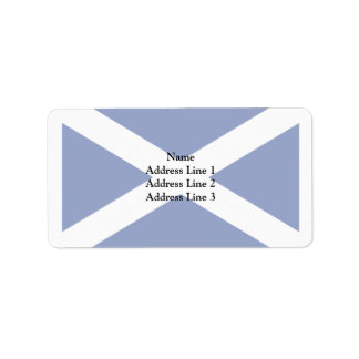Scotland(Navy Blue), United Kingdom flag Address Label