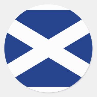 Scotland(Navy Blue), United Kingdom flag Classic Round Sticker