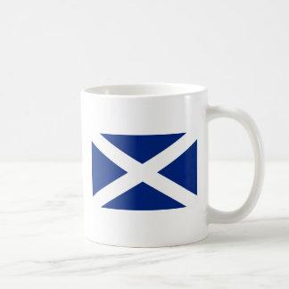 Scotland(Navy Blue), United Kingdom flag Classic White Coffee Mug