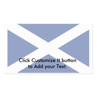 Scotland(Navy Blue), United Kingdom flag Double-Sided Standard Business Cards (Pack Of 100)