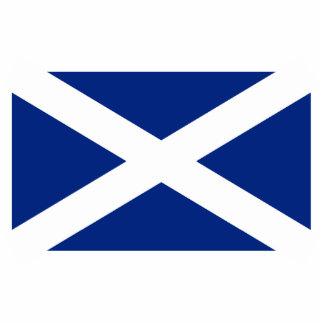 Scotland(Navy Blue), United Kingdom flag Standing Photo Sculpture