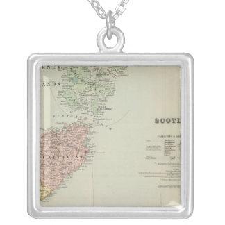 Scotland Northeast Square Pendant Necklace