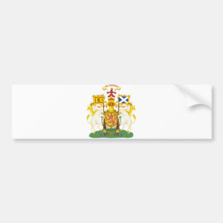 Scotland Official Coat Of Arms Heraldry Symbol Bumper Sticker