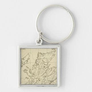 Scotland outline keychain