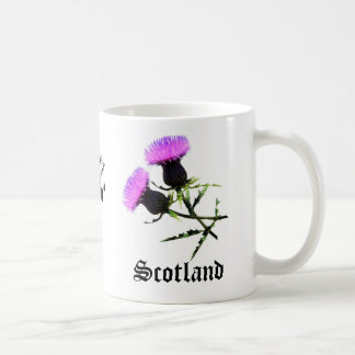 Scotland Piper, flower thistle Coffee Mug