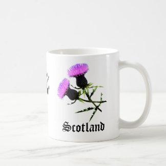 Scotland Piper, flower thistle Coffee Mug