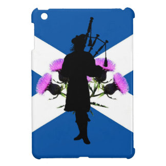 Scotland Piper , Thistle flower andrews  flag iPad Mini Cover