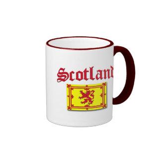 Scotland Rampant Flag Ringer Mug