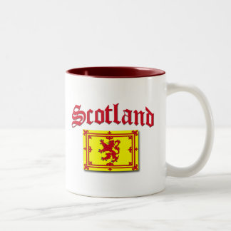 Scotland Rampant Flag Two-Tone Coffee Mug