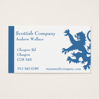 Scotland Rampant Lion Business Card