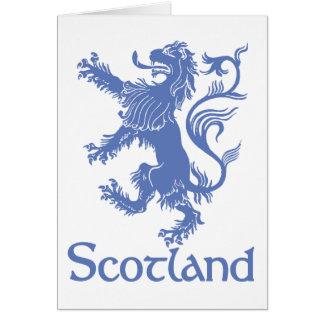 Scotland Rampant Lion Card, Scottish Heritage Card