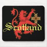 Scotland Rampant Lion  Celtic Cross Mousepad