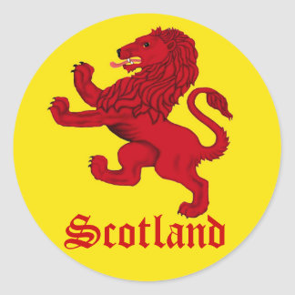 Scotland Rampant lion Classic Round Sticker