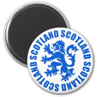 Scotland Rampant Lion Emblem 2 Inch Round Magnet