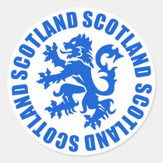 Scotland Rampant Lion Emblem Classic Round Sticker