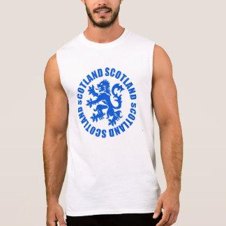Scotland Rampant Lion Emblem Sleeveless Tees